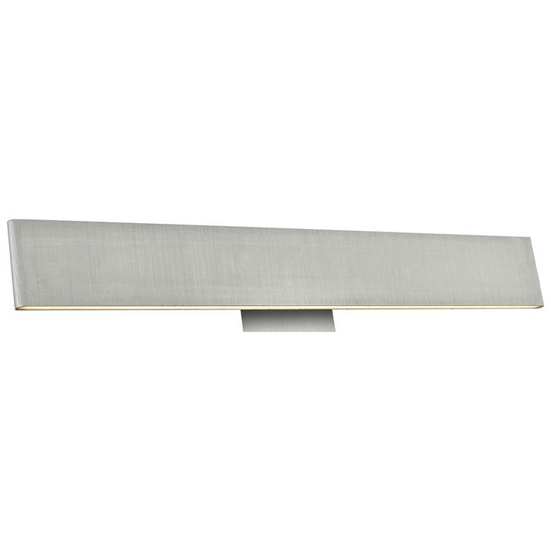 "Slim 24"" Wide Brushed Aluminum Up-Down LED Bath Light"