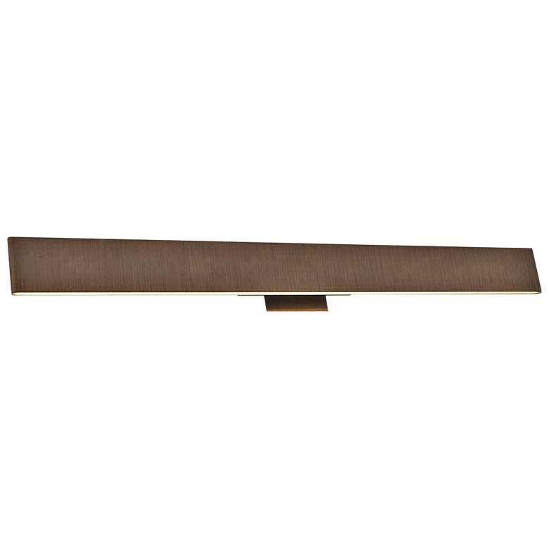 """Slim 36"""" Wide Brushed Bronze Up-Down LED Bath Light"""