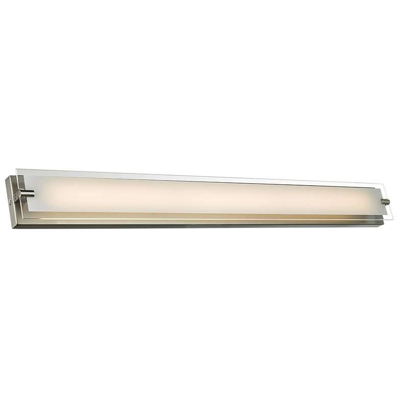 """Blaze 39 1/2"""" Wide Brushed Nickel LED Bath Light"""