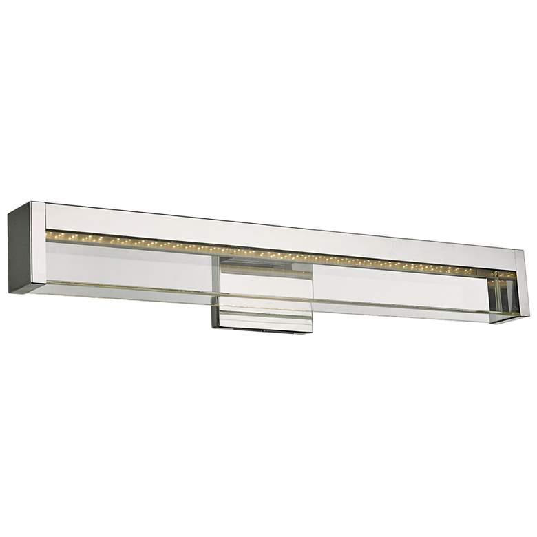 """Dazzle 24"""" Wide Chrome LED Bath Light"""