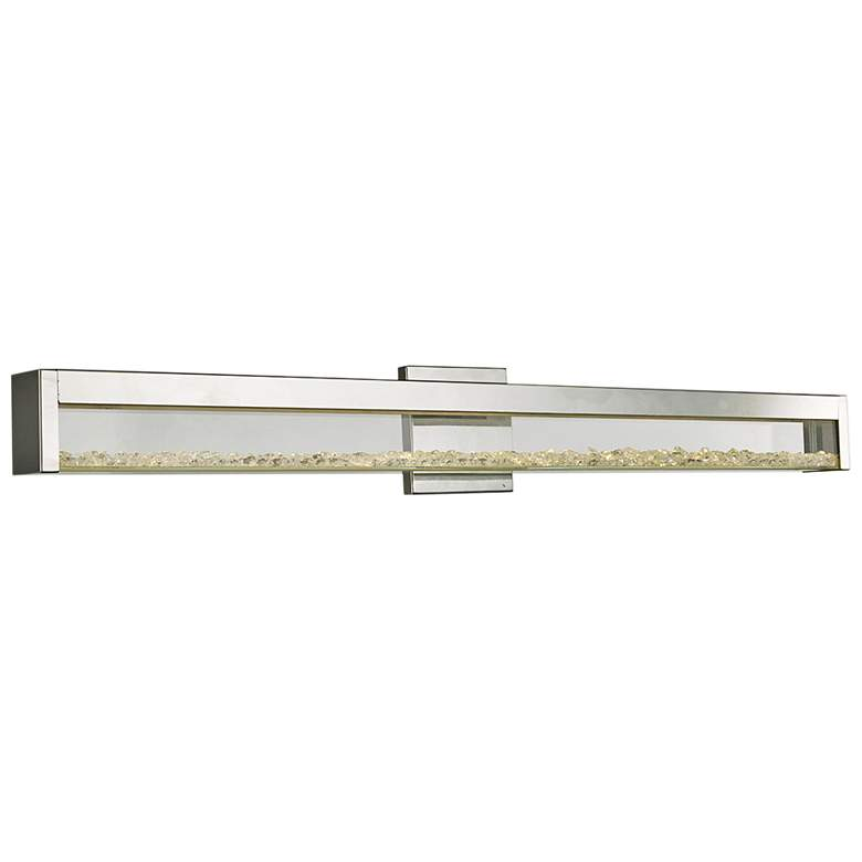"""Dazzle 36 1/4"""" Wide Chrome LED Bath Light"""