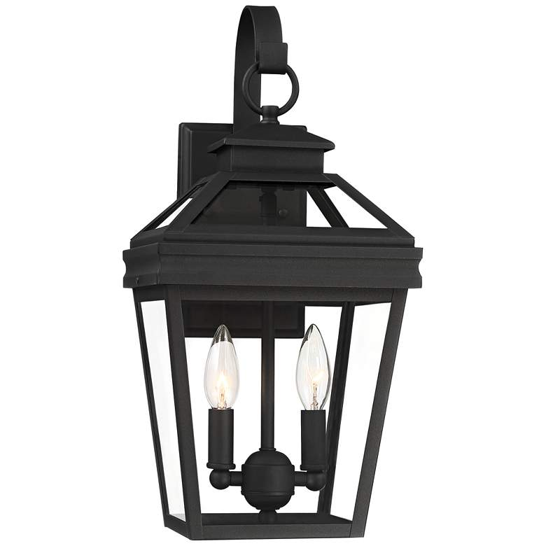 "Stratton Street 16 1/2"" High Black Outdoor Wall Light"