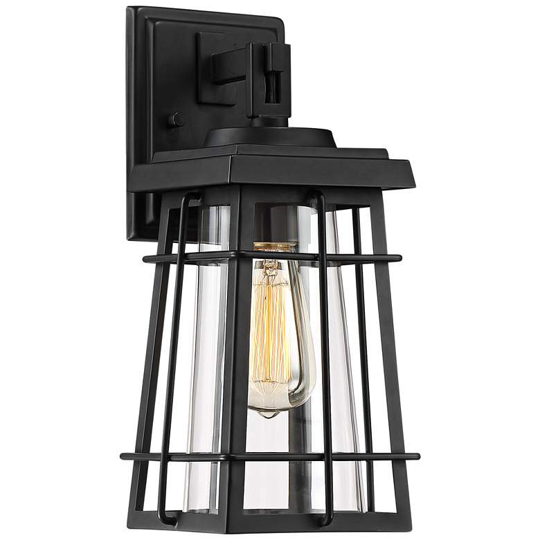 """Easton Port 14"""" High Black Caged Outdoor Wall Light"""
