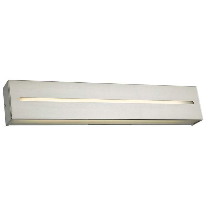 """Grin 24"""" Wide Brushed Nickel LED Bath Light"""
