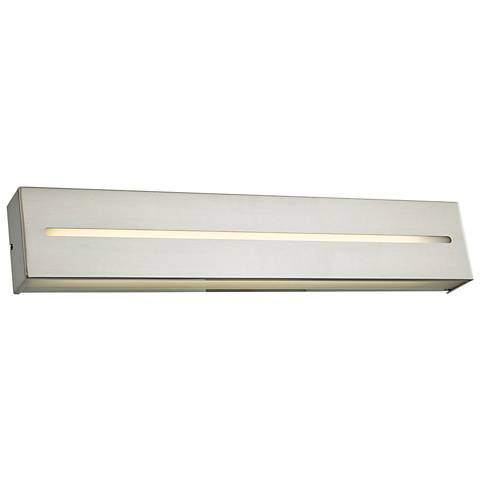 "Grin 24"" Wide Brushed Nickel LED Bath Light"