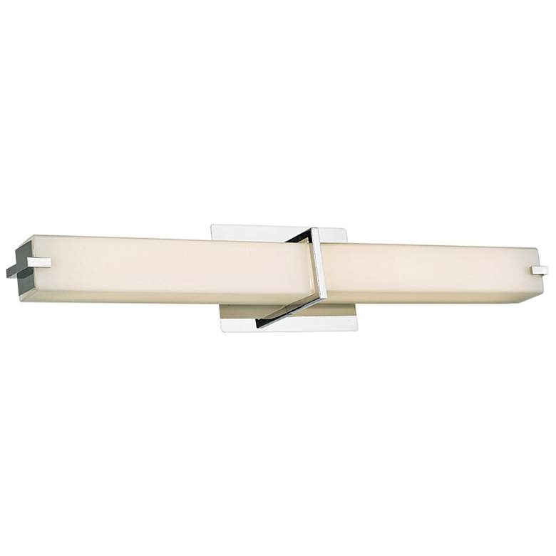 "Squire 26 1/4"" Wide Chrome Square LED Bath Light"