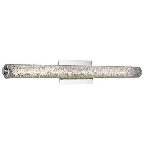 """Radius 31 1/2"""" Wide Brushed Nickel Tube LED Bath Light"""