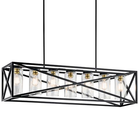 Kichler Moorgate 48 Wide Black 7 Light Island Pendant