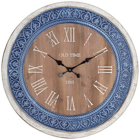 """Braga Blue Brown 31"""" Wall Clock"""