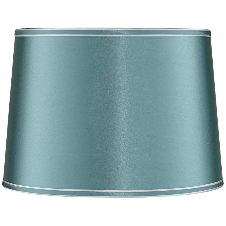 Soft Teal Drum Lamp Shade 14x16x11 (Spider)