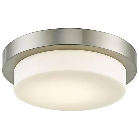 """Step 11"""" Wide Brushed Nickel LED Ceiling Light"""