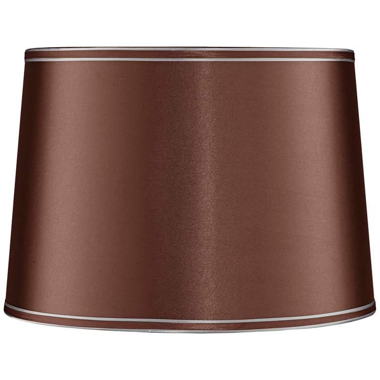 Soft Brown Drum Lamp Shade 14x16x11 (Spider)
