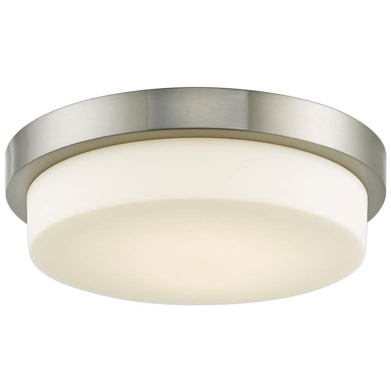 """Step 13"""" Wide Brushed Nickel LED Ceiling Light"""