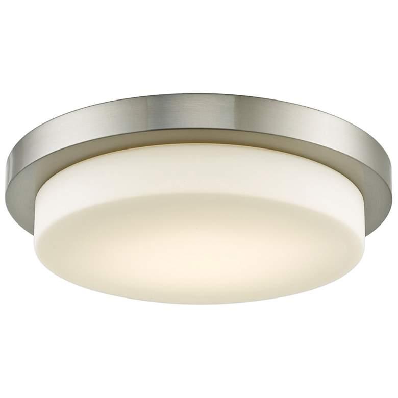"""Step 16"""" Wide Brushed Nickel LED Ceiling Light"""