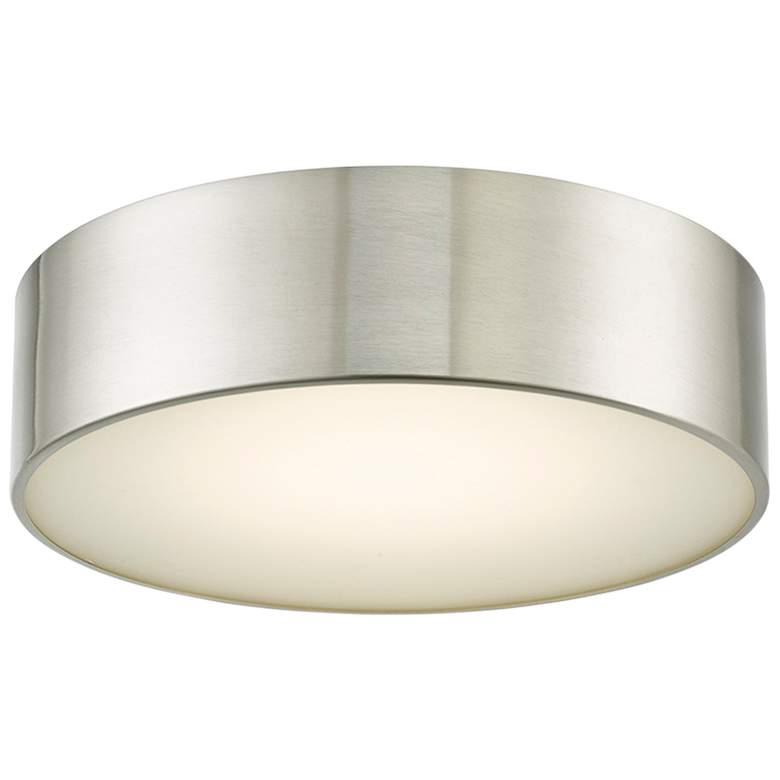 "Bongo 12"" Wide Brushed Nickel LED Ceiling Light"