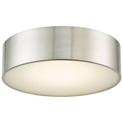 """Bongo 12"""" Wide Brushed Nickel LED Ceiling Light"""