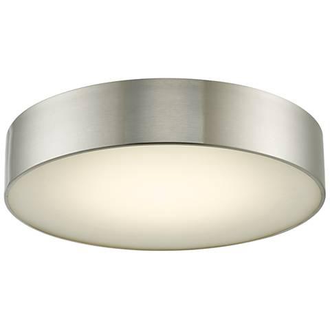 """Bongo 16"""" Wide Brushed Nickel LED Ceiling Light"""