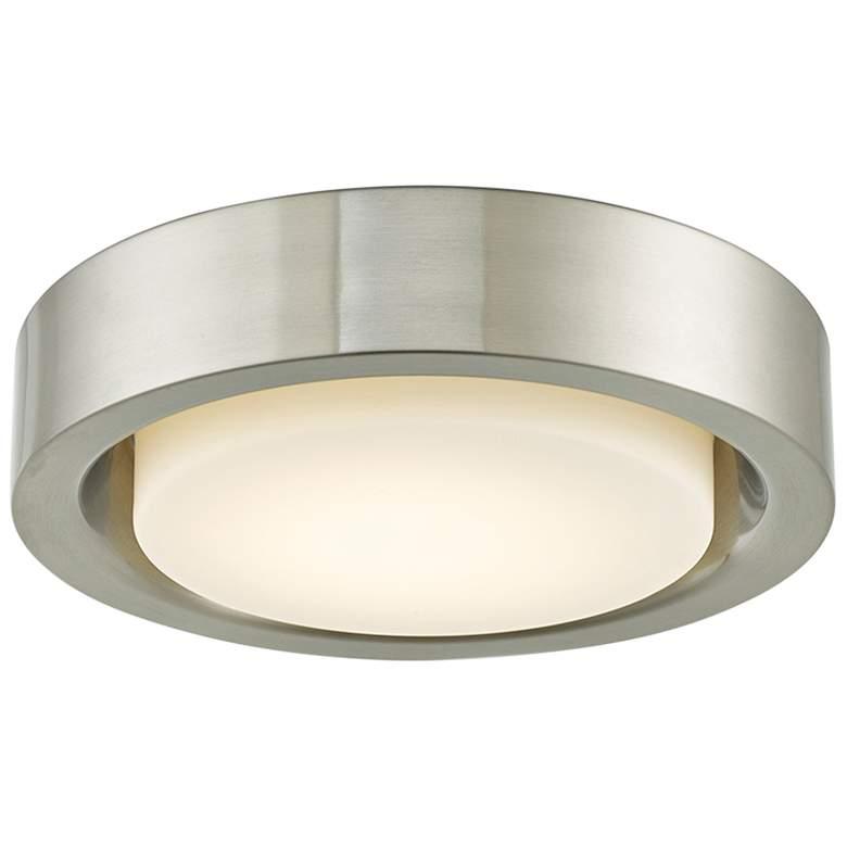 "Eclipse 13"" Wide Brushed Nickel LED Ceiling Light"