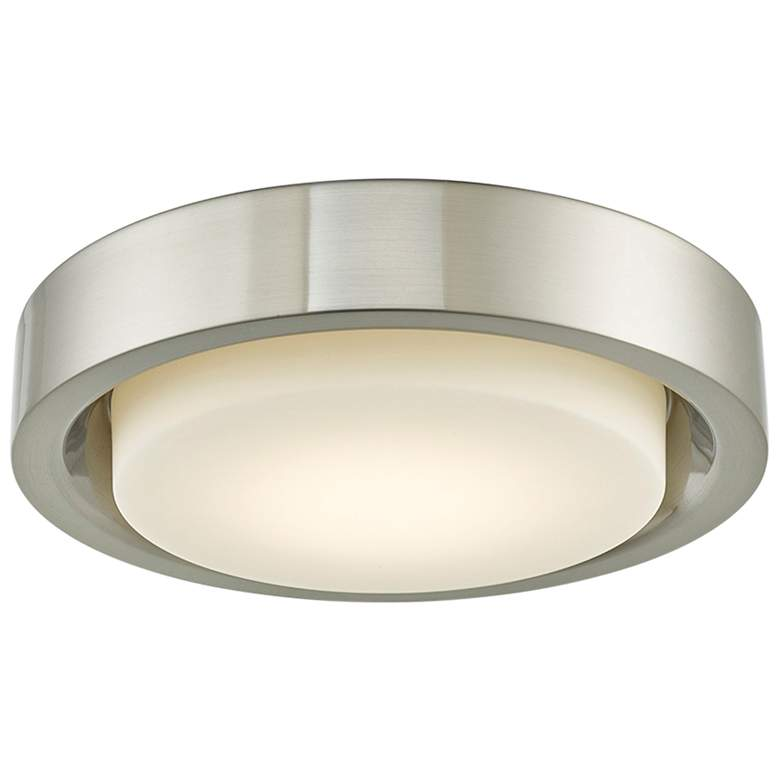 "Eclipse 16"" Wide Brushed Nickel LED Ceiling Light"