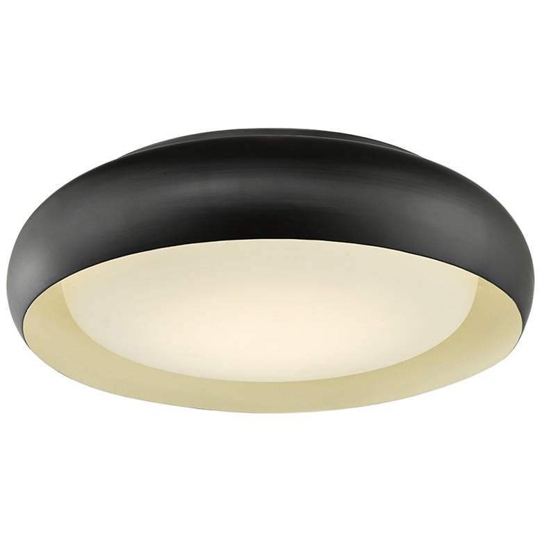 "Euphoria 15"" Wide Bronze LED Ceiling Light"