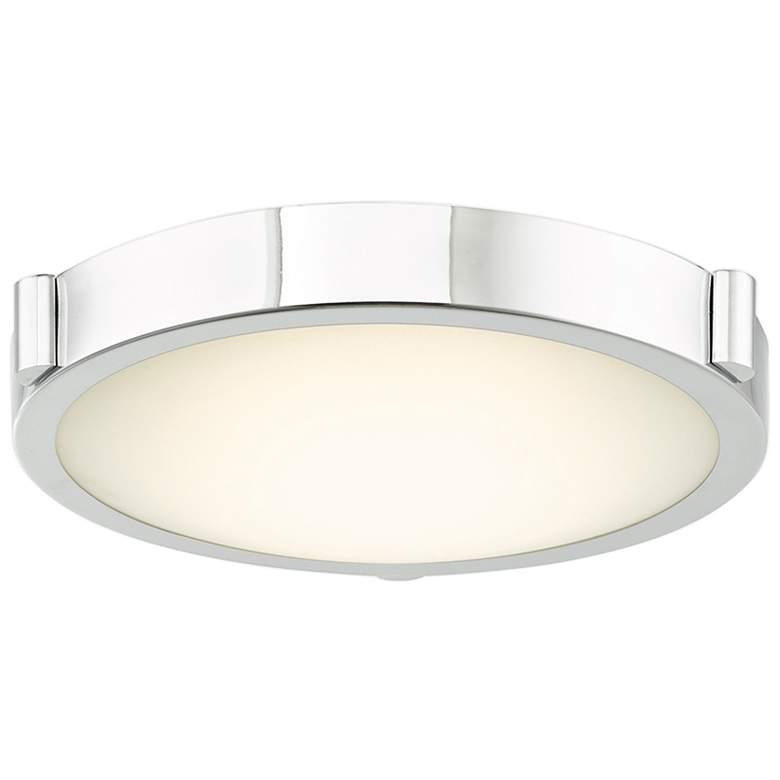 "dHalo 11"" Wide Chrome Finish Modern LED Ceiling Light"