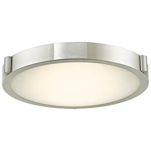 "Halo 13"" Wide Brushed Nickel LED Ceiling Light"