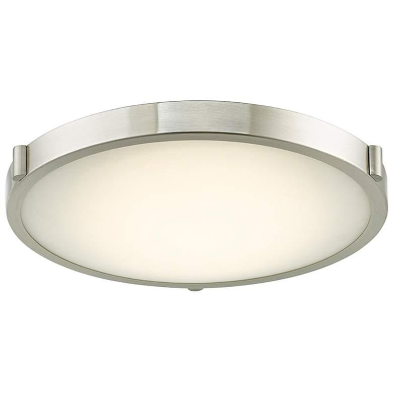 "Halo 17"" Wide Brushed Nickel LED Ceiling Light"