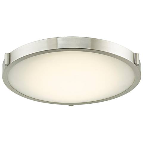 "Halo 17"" Wide Brushed Nickel LED Ceiling Light"
