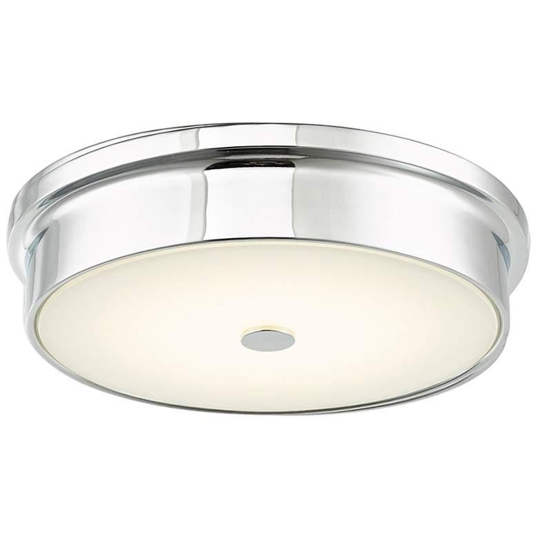 """Spark 12"""" Wide Chrome LED Ceiling Light"""