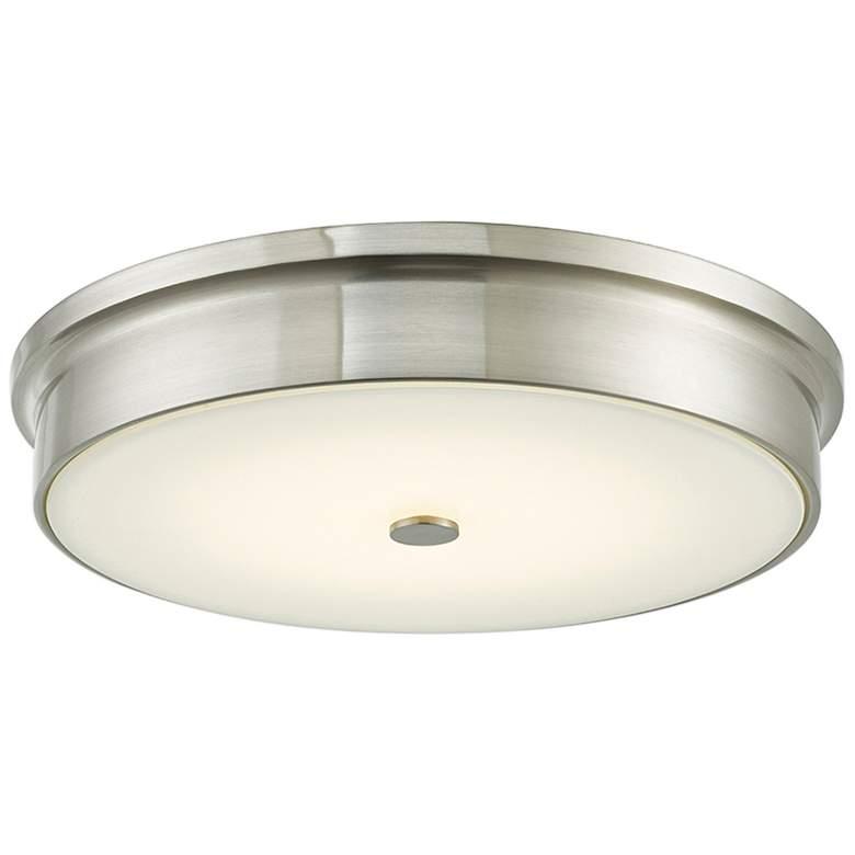 """Spark 15"""" Wide Brushed Nickel LED Ceiling Light"""