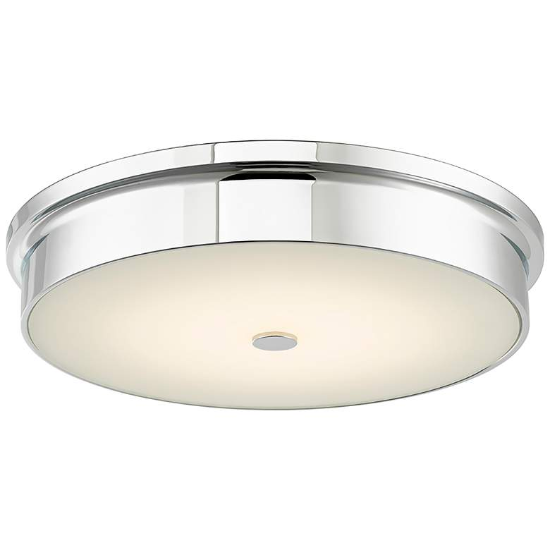 "Spark Chrome 15"" Wide Modern LED Ceiling Light"