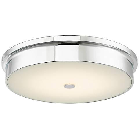 """Spark 15"""" Wide Chrome LED Ceiling Light"""