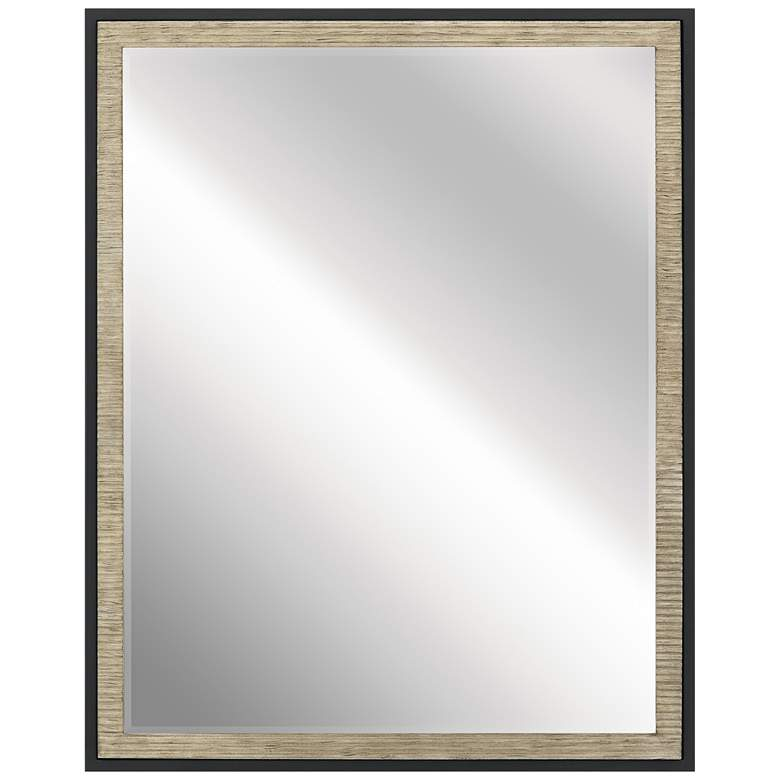 """Millwright Distressed Antique Gray 24"""" x 30"""" Wall Mirror"""