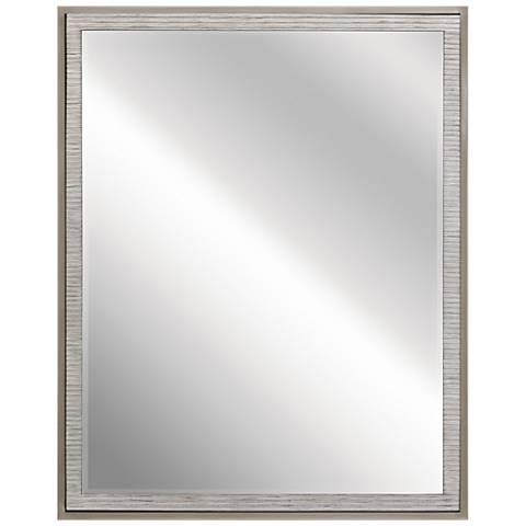 "Kichler Millwright Rubbed Gray 24"" x 30"" Wall Mirror"