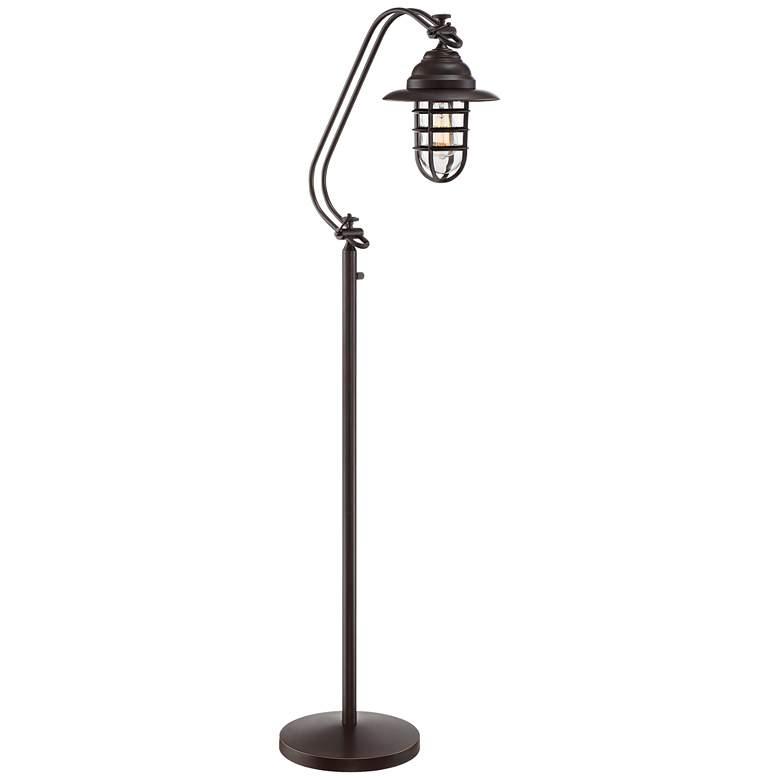 Franklin Iron Works Knox II Bronze Floor Lamp