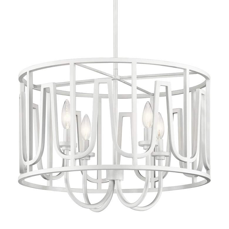 """Kichler Sutton 22"""" Wide White 4-Light Pendant"""