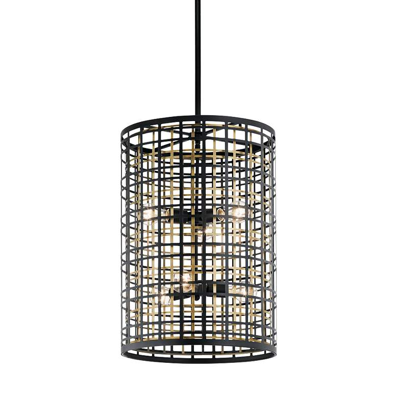 "Kichler Aldergate 16"" Wide Black 6-Light Foyer Pendant"
