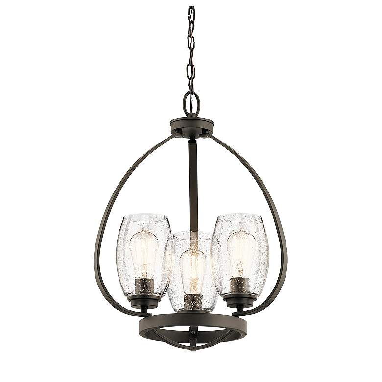 "Kichler Tuscany 17"" Wide Oiled Bronze 3-Light Chandelier"