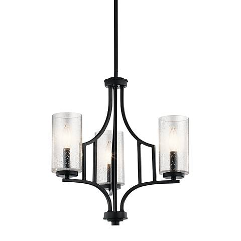 "Kichler Vara 18"" Wide Distressed Black 3-Light Chandelier"