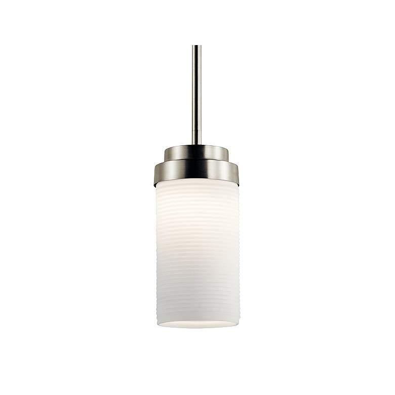 """Kichler Akai 4"""" Wide Brushed Nickel LED Mini Pendant"""