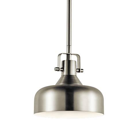 "Kichler Intex 7"" Wide Brushed Nickel LED Mini Pendant"