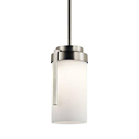 """Kichler Akai 4 1/2"""" Wide Brushed Nickel LED Mini Pendant"""