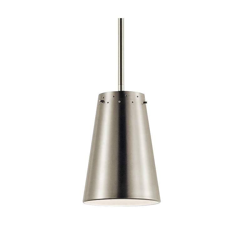 "Kichler Intex 6"" Wide Brushed Nickel LED Mini Pendant"