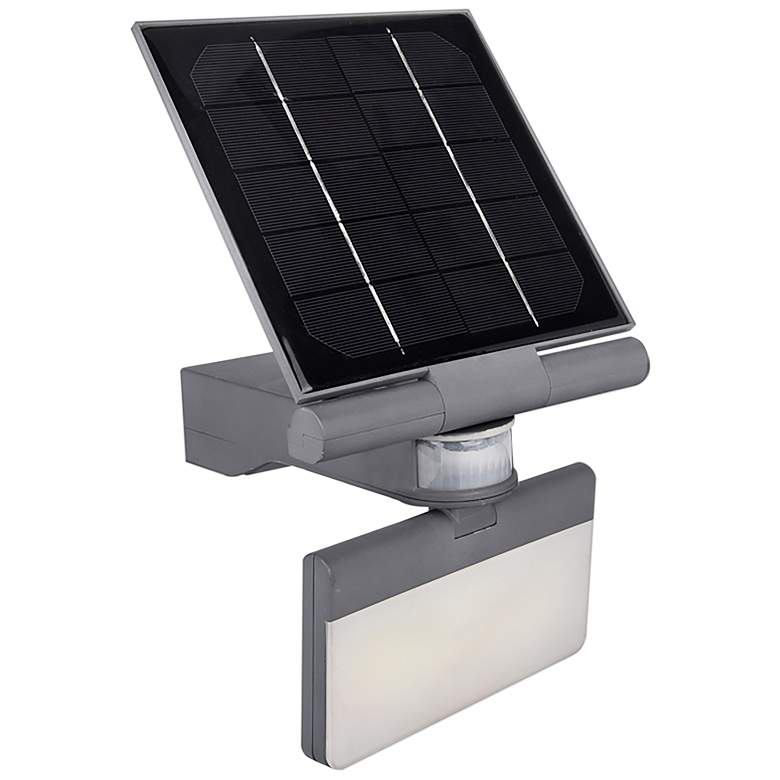 """Pacific Accents 7""""H Gray Solar LED Outdoor Flood"""