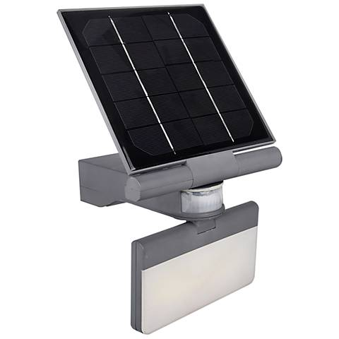 "Pacific Accents 7""H Gray Solar LED Outdoor Flood Light"
