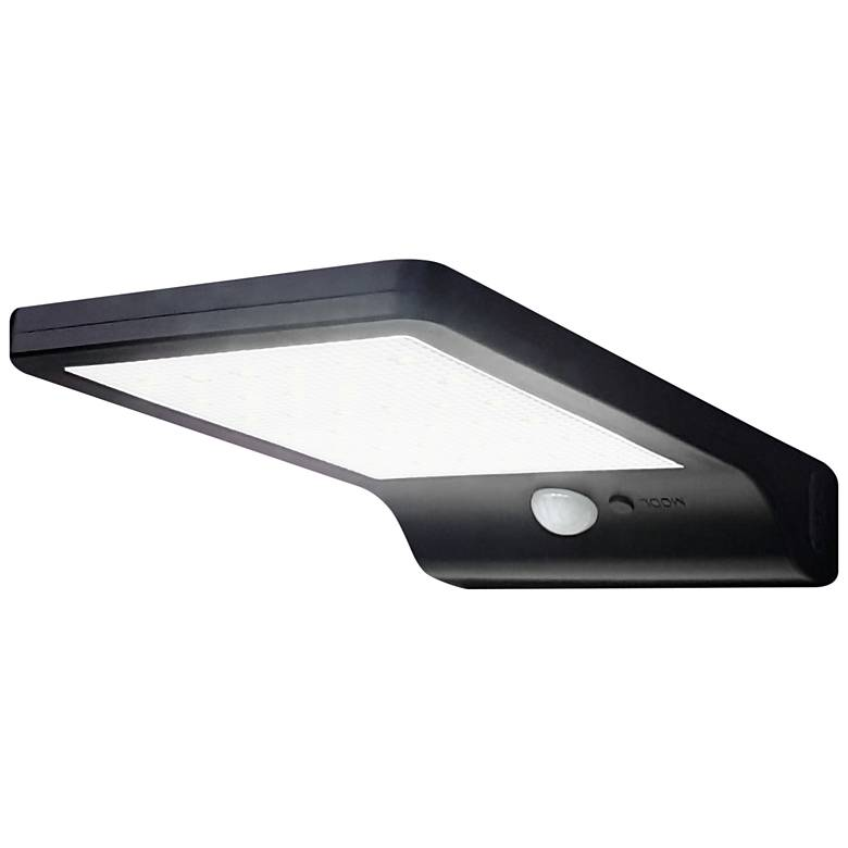 """Pacific Accents 7""""H Black Solar LED Outdoor Flood Light"""