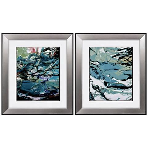 """Marble 29"""" High 2-Piece Framed Wall Art Set"""