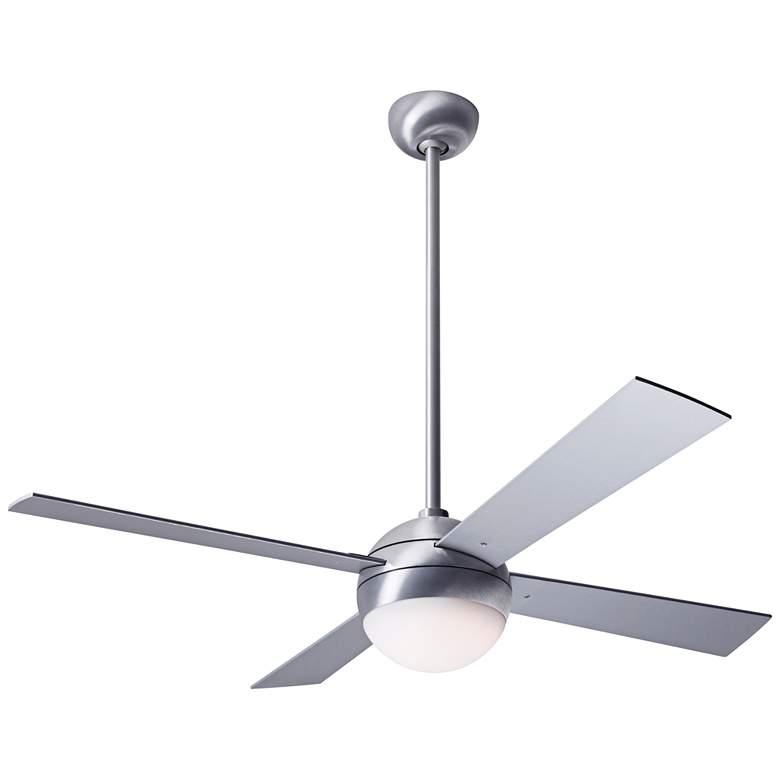 "42"" Modern Fan Ball Brushed Aluminum LED Ceiling Fan"