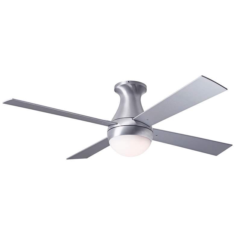 """42"""" Modern Fan Ball Flush Aluminum Hugger LED Ceiling Fan"""