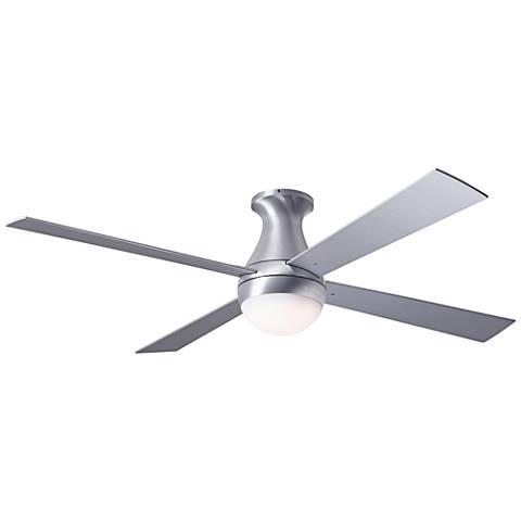 """52"""" Modern Fan Ball Flush Aluminum Hugger LED Ceiling Fan"""